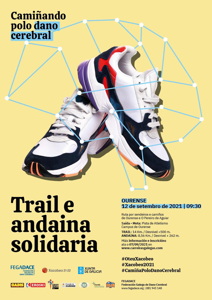 Cartel do trail e andaina solidaria 'Camiñando polo dano cerebral'
