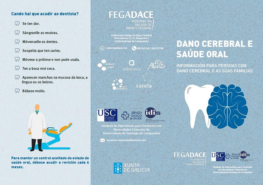 Exterior do folleto sobre saúde oral e dano cerebral