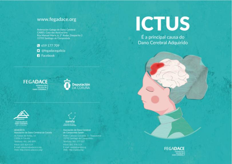 Exterior do díptico Ictus, a principal causa do dano cerebral