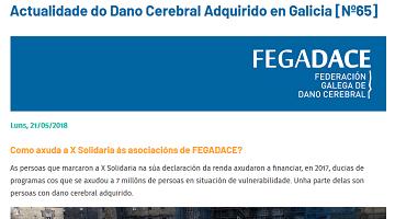 Captura do boletín de Actualidade do DCA