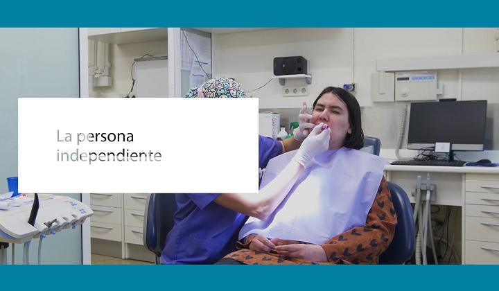 A portada dun dos vídeos de hixiene oral e dano cerebral
